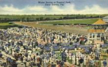 spo021558 - Coral Gables, FL USA Horse Racing Old Vintage Antique Postcard Post Cards