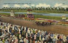 spo021561 - Miami, FL USA Horse Racing Old Vintage Antique Postcard Post Cards