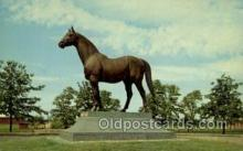 spo021571 - Man O War Statue, Lexington, KY USA Horse Racing Old Vintage Antique Postcard Post Cards