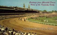 spo021584 - Churchill Downs,  Louisville, KY USA Horse Racing Old Vintage Antique Postcard Post Cards