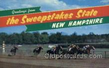 spo021586 - Concord, NH USA Horse Racing Old Vintage Antique Postcard Post Cards
