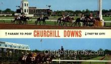 spo021590 - Churchill Downs,  Louisville, KY USA Horse Racing Old Vintage Antique Postcard Post Cards