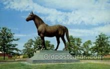 spo021600 - Man-O-War Statue, Faraway Farm, Lexington, KY USA Horse Racing Old Vintage Antique Postcard Post Cards