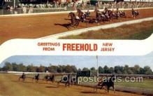 spo021606 - Freehold, NJ USA Horse Racing Old Vintage Antique Postcard Post Cards