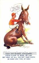spo021616 - Artist Taylor Horse Racing Old Vintage Antique Postcard Post Cards