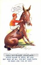 spo021617 - Horse Racing Old Vintage Antique Postcard Post Cards