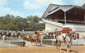 spo021712 - Horse Racing Postcard Post Card
