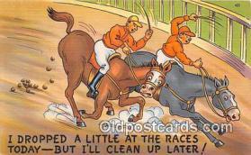 spo021730 - Horse Racing Postcard Post Card