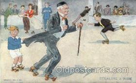 spo022025 - Artist R. Hill, Roller Skating Postcard Postcards