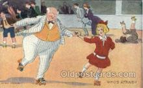 spo022027 - Artist R. Hill, Roller Skating Postcard Postcards