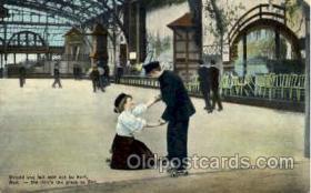 spo022029 - Roller Skating Postcard Postcards
