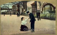 spo022064 - :Should She Fall and Not Be Hurt, Well, the Rinks the Place to Flirt, Roller Skating Postcard Postcards