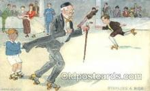 spo022066 - Stealing a Ride, Roller Skating Postcard Postcards