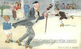 spo022066 - Stealing a Ride, Roller Skating Postcard Postcards
