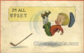 spo022073 - Roller Skating Old Vintage Antique Postcard Post Cards