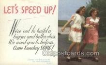 spo022078 - Roller Skating Old Vintage Antique Postcard Post Cards