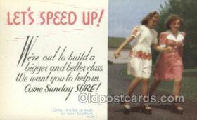 spo022078 - Roller Skating Old Vintage Antique Postcard Post Cards