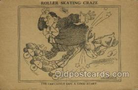 spo022081 - Roller Skating Old Vintage Antique Postcard Post Cards