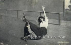 spo022082 - Roller Skating Old Vintage Antique Postcard Post Cards