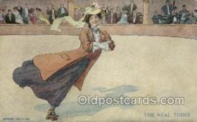 spo022083 - Roller Skating Old Vintage Antique Postcard Post Cards