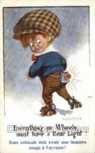 spo022085 - Roller Skating Old Vintage Antique Postcard Post Cards