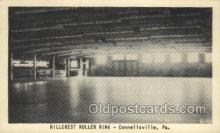 spo022088 - Hillcrest Roller Rink, Connellsville, PA USA Roller Skating Old Vintage Antique Postcard Post Cards
