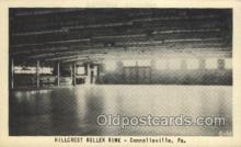 spo022089 - Hillcrest Roller Rink, Connellsville, PA USA Roller Skating Old Vintage Antique Postcard Post Cards