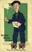 spo022091 - Roller Skating Old Vintage Antique Postcard Post Cards