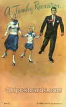 spo022092 - Roller Skating Old Vintage Antique Postcard Post Cards