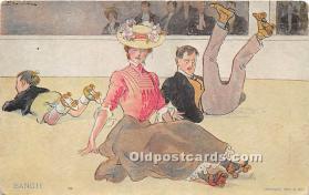 spo022100 - Old Vintage Rollae Skating Postcard Post Card