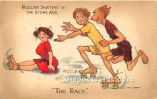spo022128 - Old Vintage Rollae Skating Postcard Post Card