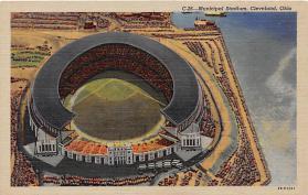 spo023018 - Municipal Stadium, Cleavland Ohio, USA Base Ball,  Baseball Stadium, Postcard Postcards