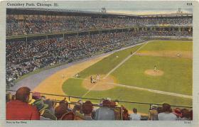 spo023040 - Comiskey park, Chicago, Ill,USA, home of White Sox, Base Ball,  Baseball Stadium, Postcard Postcards