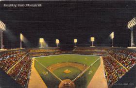 spo023042 - Comiskey park, Chicago, Ill,USA, home of White Sox, Base Ball,  Baseball Stadium, Postcard Postcards