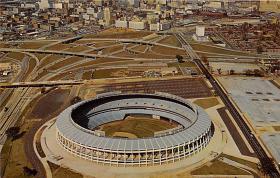 spo023144 - Atlanta Stadium, Home of the Brave, Atlanta Georga, USA, Baseball, Base Ball Stadium Postcard Postcards