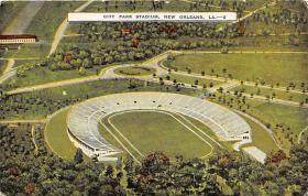 spo023173 - City Park Stadium, New Orleans, LA, USA, Baseball Team, Base Ball Stadium Postcard Postcards