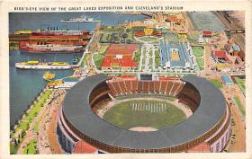 spo023177 - The Great Lakes Exposition & Clelelands Stadium, Baseball Team, Base Ball Stadium Postcard Postcards