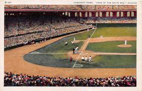 spo023217 - Comiskey Park, Chicago, IL, USA Baseball Stadiums, Base Ball Stadium, Postcard Postcards