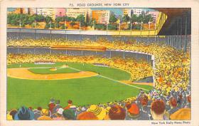 spo023241 - Polo Grounds, Home of New York Giants, New York City, USA Baseball Stadium Postcard Postcards