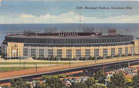 spo023564 - Cleveland Ohio, USA Municipal Stadium Base Ball Baseball Stadium Postcards Post Card