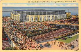 spo023565 - Cleveland Ohio, USA Municipal Stadium Base Ball Baseball Stadium Postcards Post Card