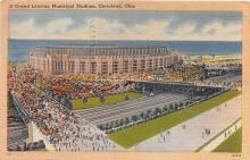 spo023566 - Cleveland Ohio, USA Municipal Stadium Base Ball Baseball Stadium Postcards Post Card