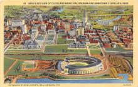 spo023568 - Municipal Stadium Cleveland, Ohio Base Ball Baseball Stadium Postcards Post Card