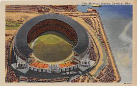 spo023572 - Cleveland Ohio, USA Municipal Stadium Base Ball Baseball Stadium Postcards Post Card