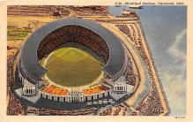 spo023573 - Cleveland Ohio, USA Municipal Stadium Base Ball Baseball Stadium Postcards Post Card