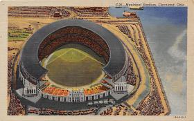 spo023574 - Cleveland Ohio, USA Municipal Stadium Base Ball Baseball Stadium Postcards Post Card