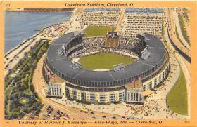 spo023579 - Municipal Stadium Cleveland, Ohio Base Ball Baseball Stadium Postcards Post Card