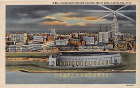 spo023580 - Municipal Stadium Cleveland, Ohio Base Ball Baseball Stadium Postcards Post Card