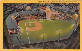 spo023589 - Red Bird Stadium Columbus, Ohio Base Ball Baseball Stadium Postcards Post Card