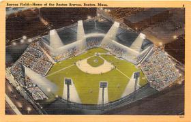 spo023594 - Braves Field Home of the Boston Braves Boston Massachusetts Base Ball Baseball Stadium Postcards Post Card